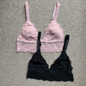 Set of 2 Victoria's Secret bralettes. Size small.